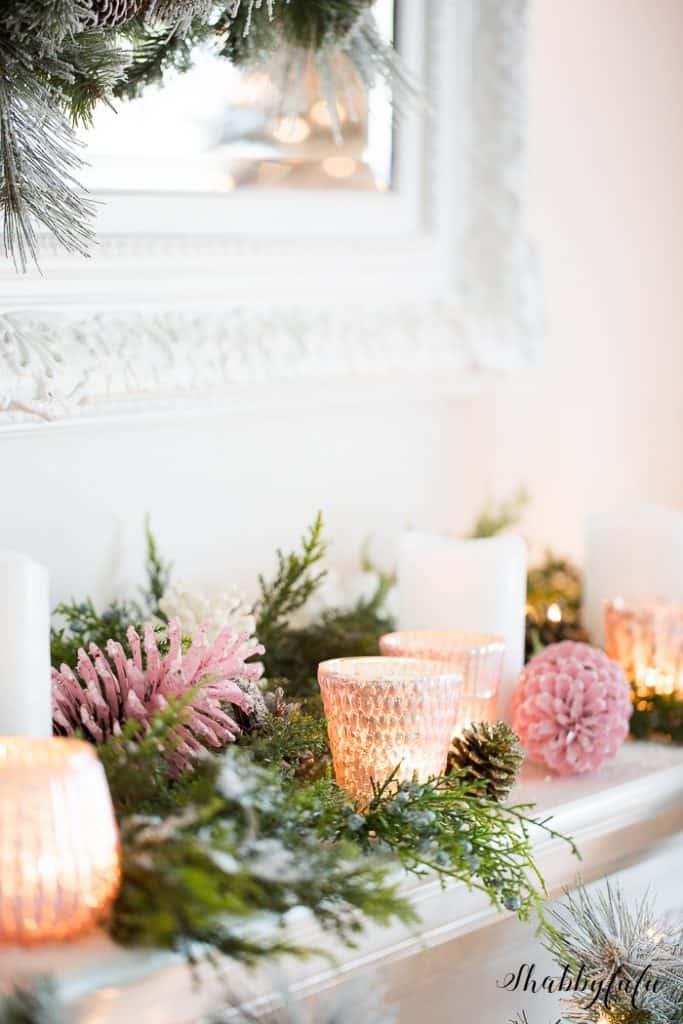 pink-mantel-christmas