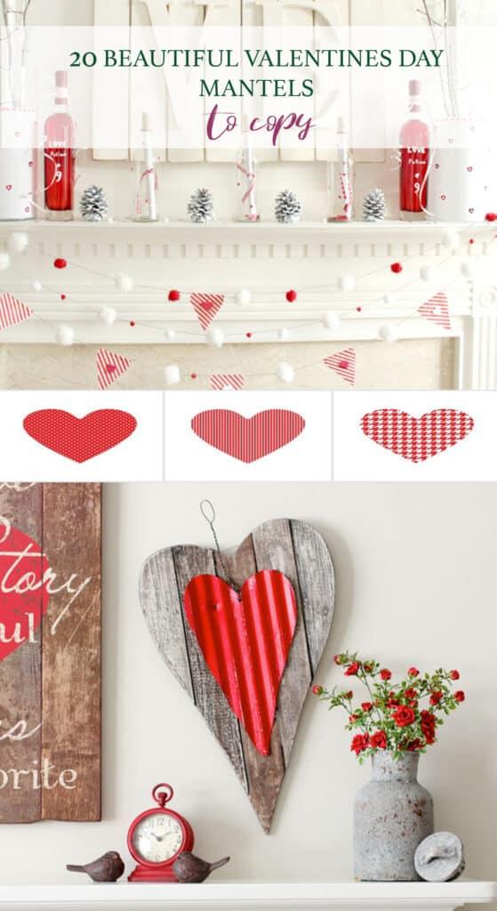 20 Valentines Day Mantel Ideas