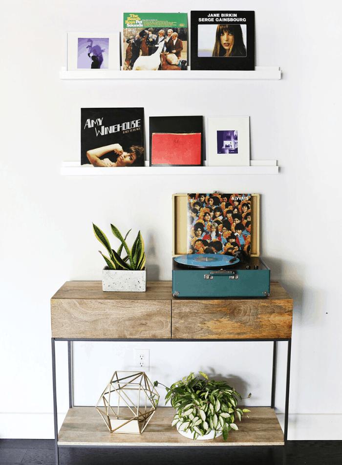 creative photo display ideas wall ledge