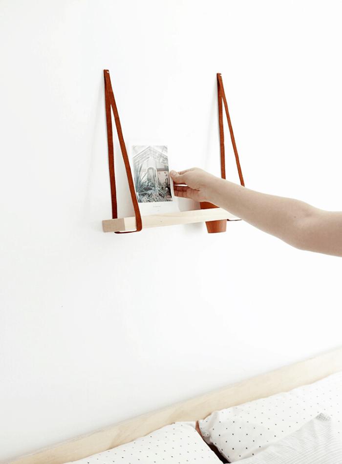 creative photo display ideas wall shelf