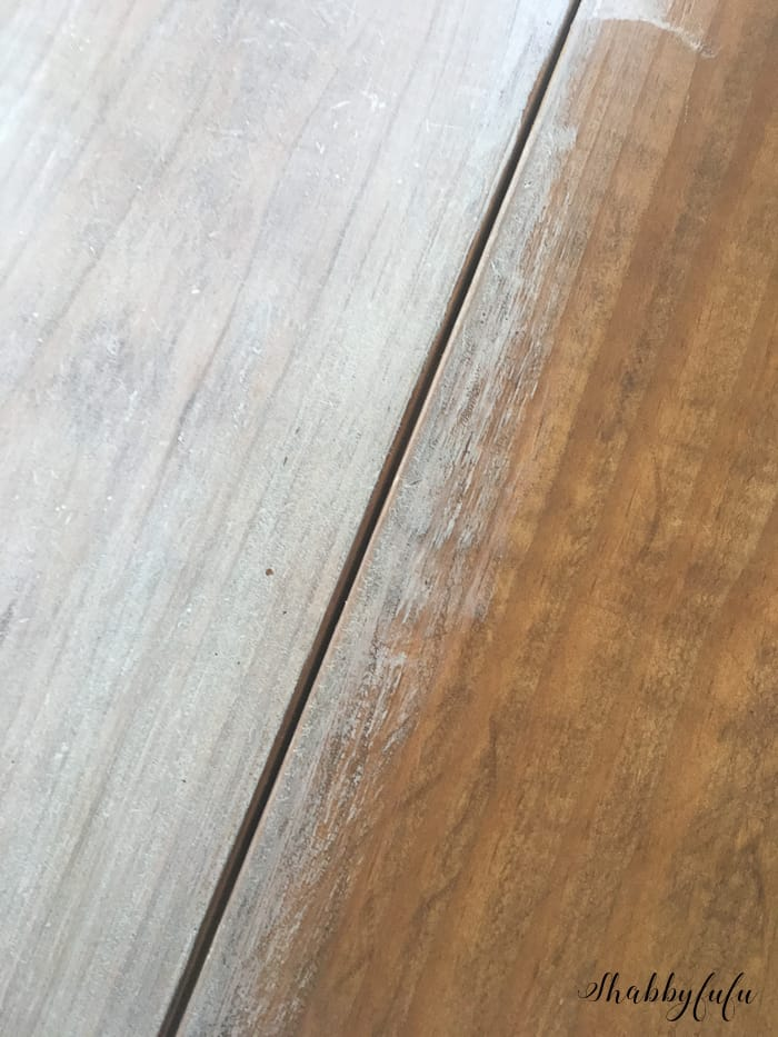 whitewashing a wood table