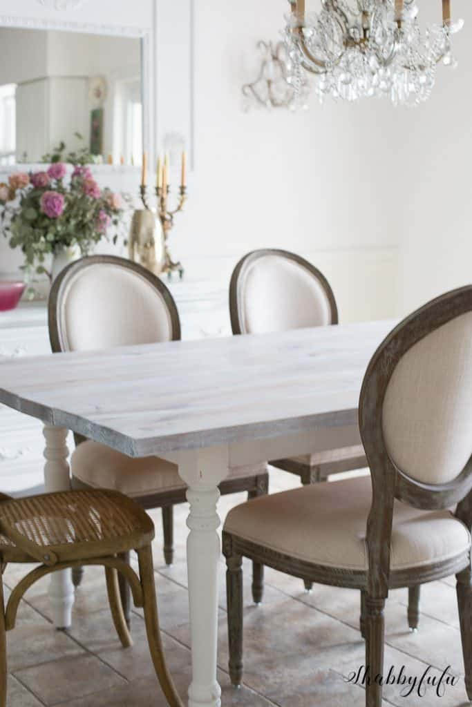 How To Whitewash A Farmhouse Table In 30 Minutes