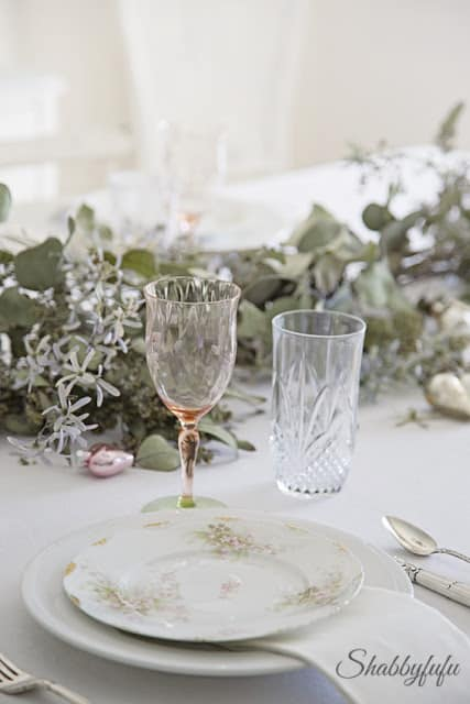 beautiful french limoges tablesetting