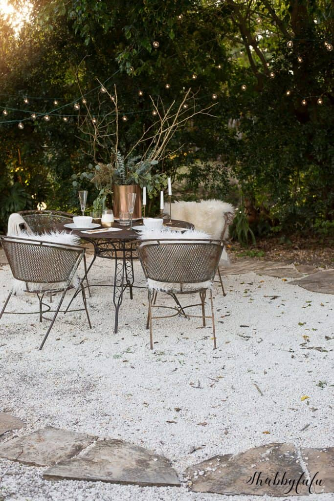 crushed rock patio on a budget