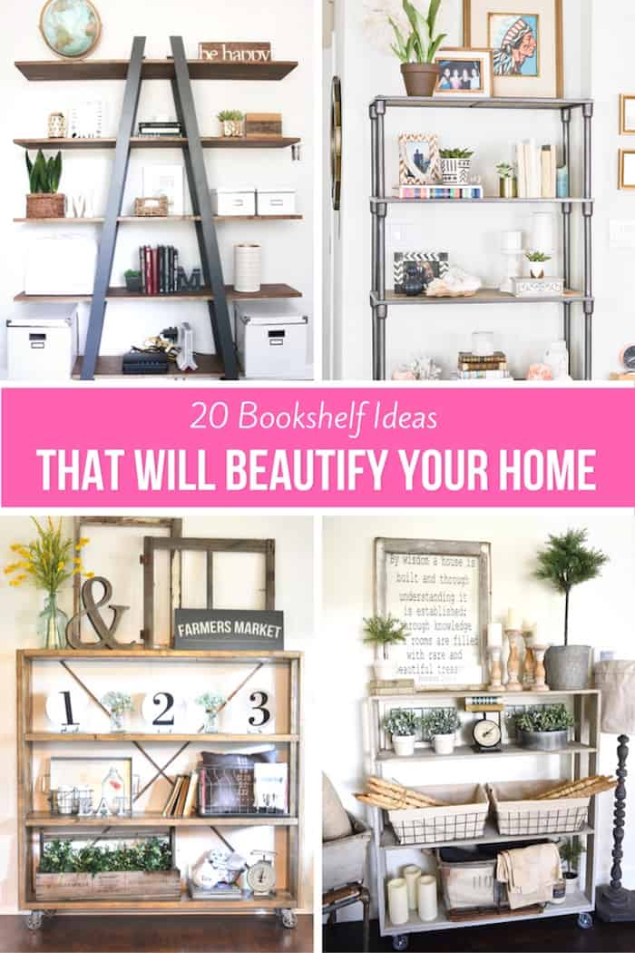 5 Coastal Bookshelf Decorating Hacks - Without Books - shabbyfufu.com
