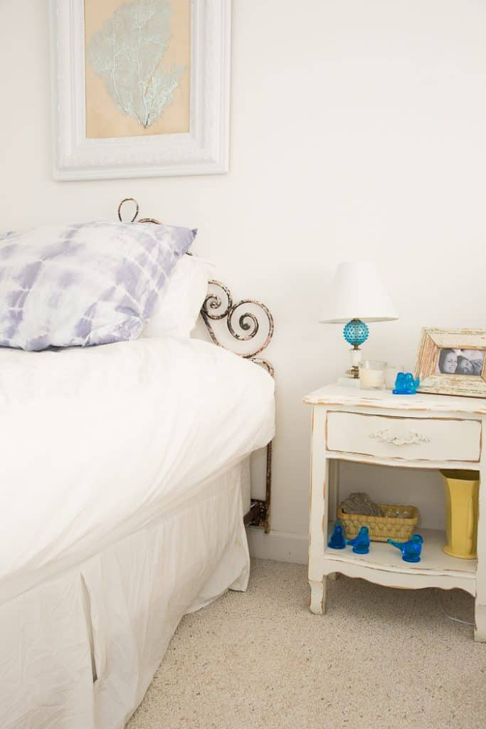 Before white shabby bedroom