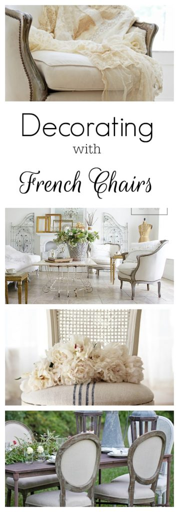 How to decorate with French chairs and where to find affordable reproductions @shabbyfufublog