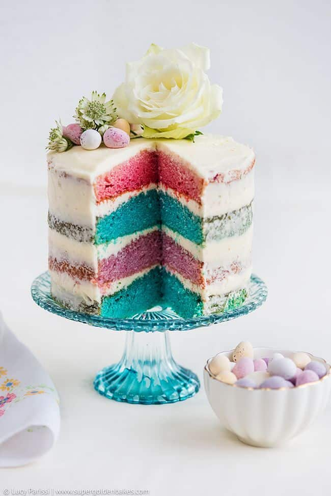 beautiful rainbow cake cutest spring cakes cookies
