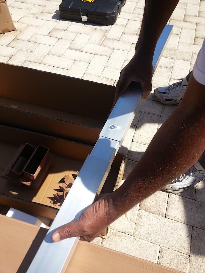 how to install a pergola