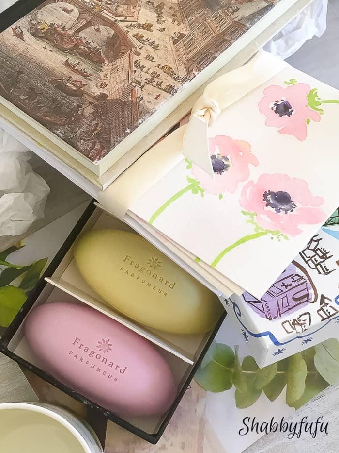 Fragonard soaps pastels