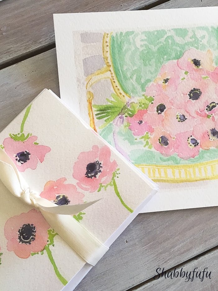 hand painted french flowers