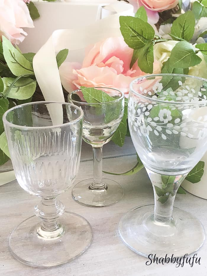 antique French stemware