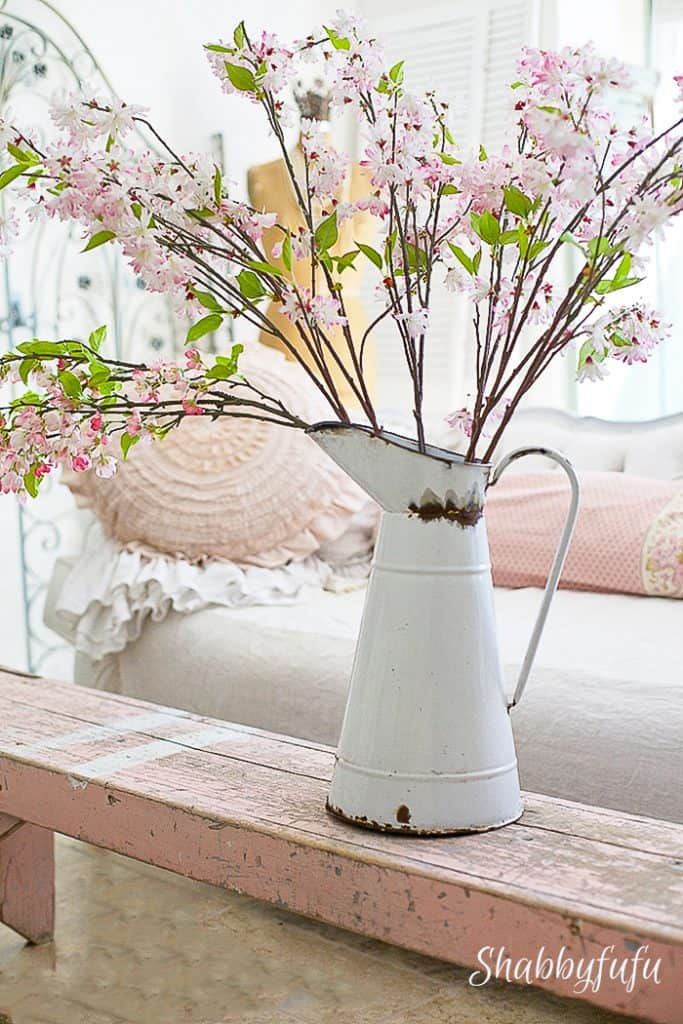 cherry blossom branches indoors