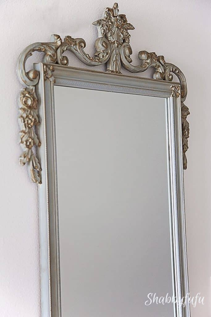 antique french mirror used in romantic style home decorating
