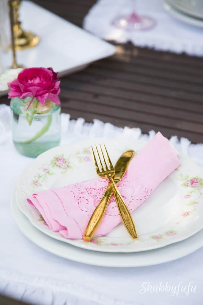 ombre blush pink napkins