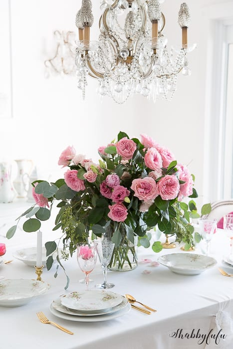 decorate a room with blush pink - david austin roses