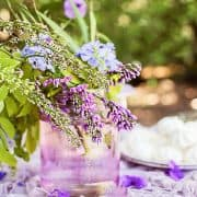 How To Design A Table Centerpiece With Wisteria