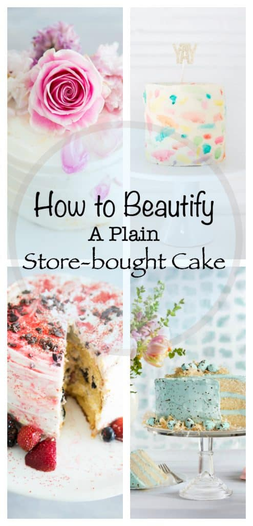 decorated grocery store cakes upcycled