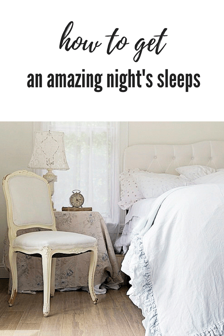 Need a few tips on how to get an amazing night's sleep? Here are some that work for me each and every night! Stop counting sheep and try these! #sleepbetter #howtosleepbetter #howtogetanamazingnightssleep #sleepingtips