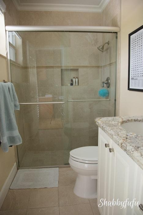 bathroom granite and shaker