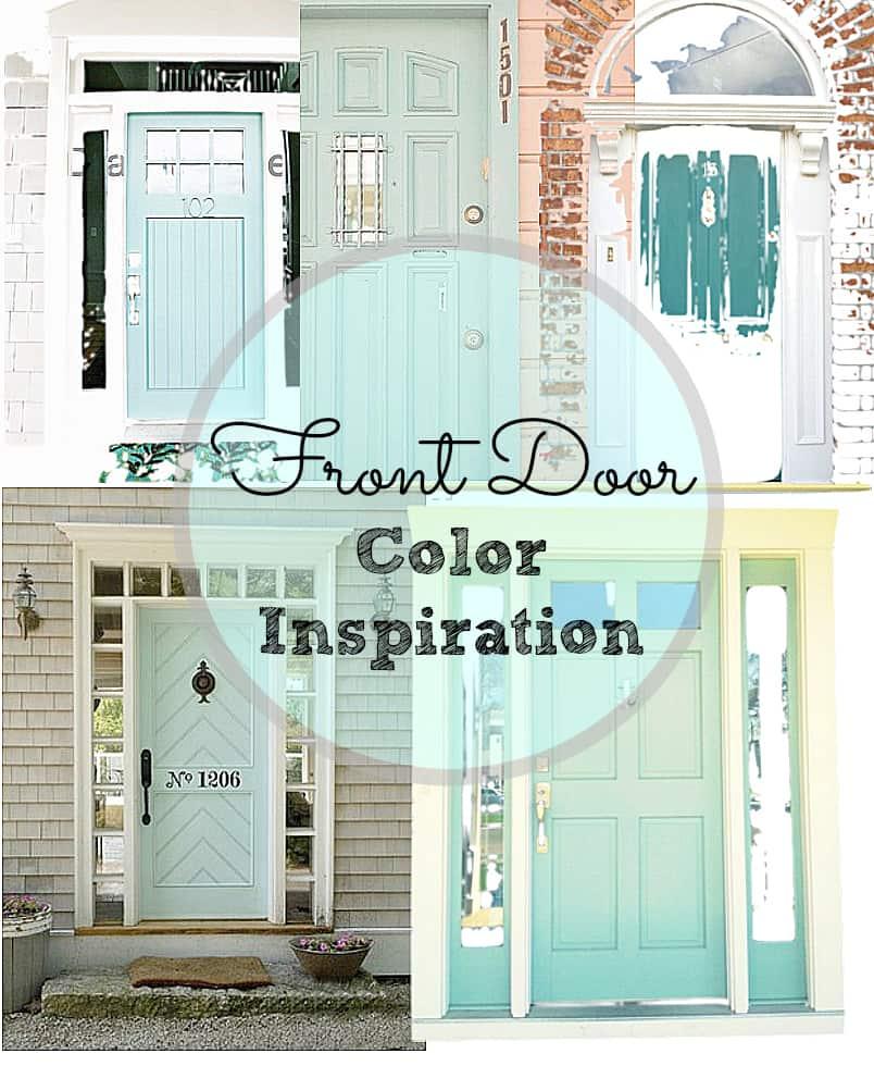 front door storyboard mint green