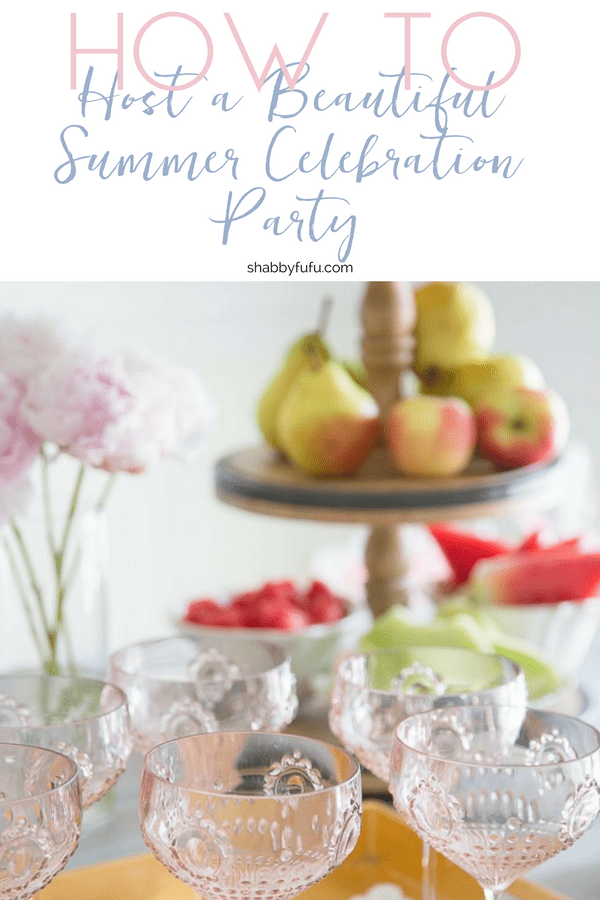 summer entertaining cocktails