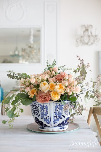 floral arrangement with david austin roses