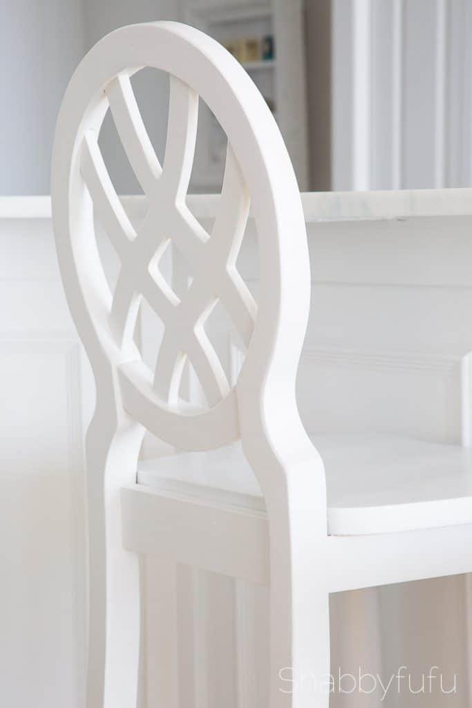 white barstool beach house
