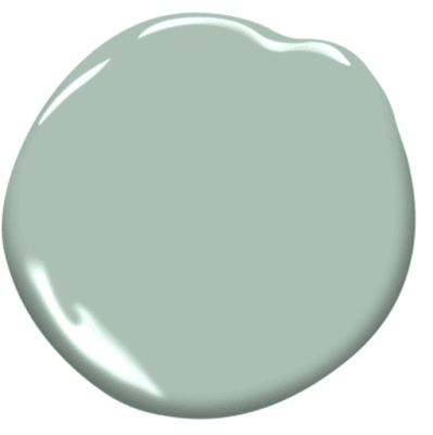 seafoam green paint color swatch