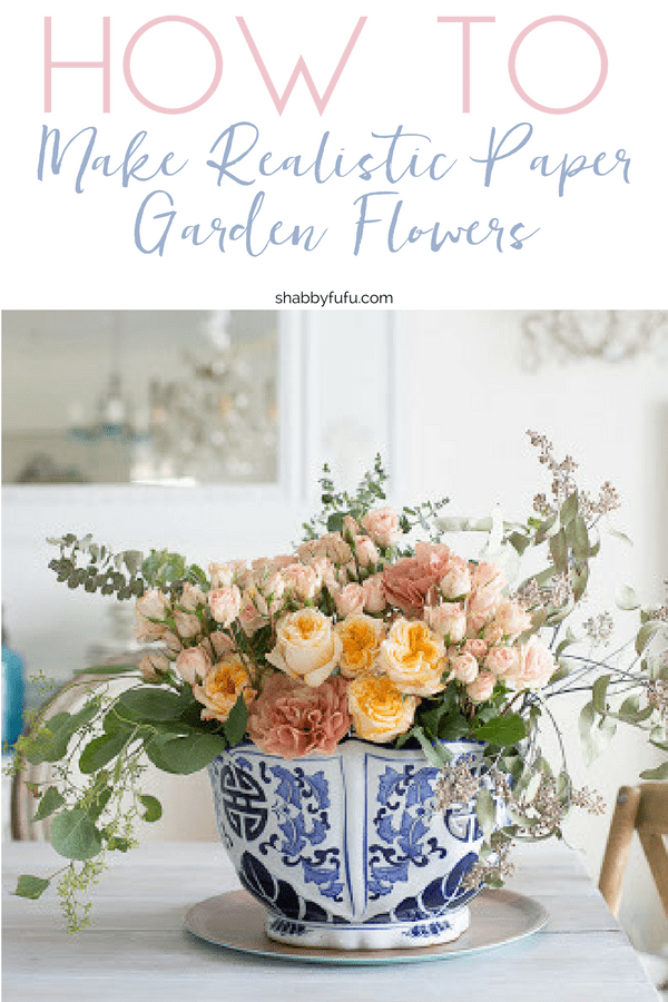How To Make Realistic Paper Garden Flowers Shabbyfufu Com