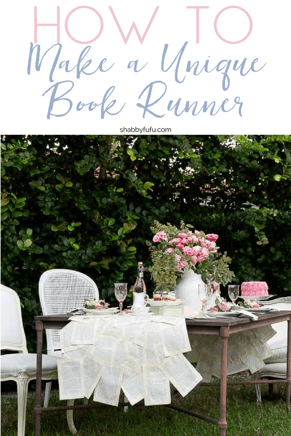 How to make a creative book runner for a book club party, table setting, entertaining, and more!