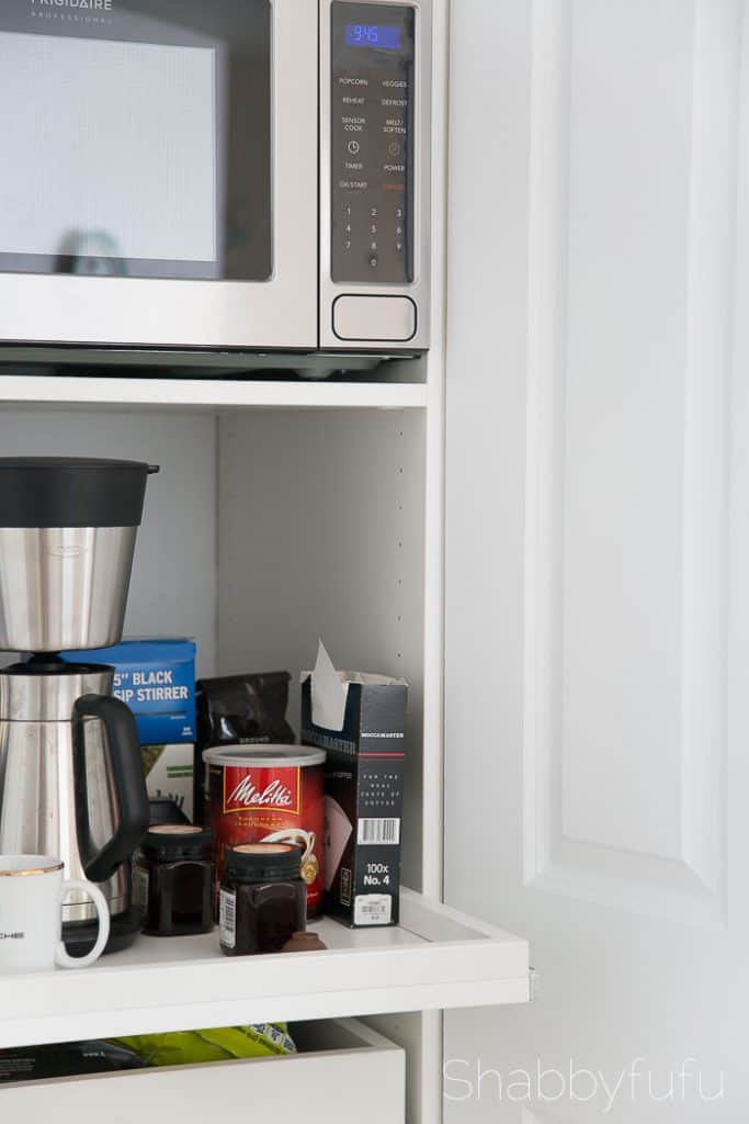 How To Build A Hidden Coffee Station and Microwave