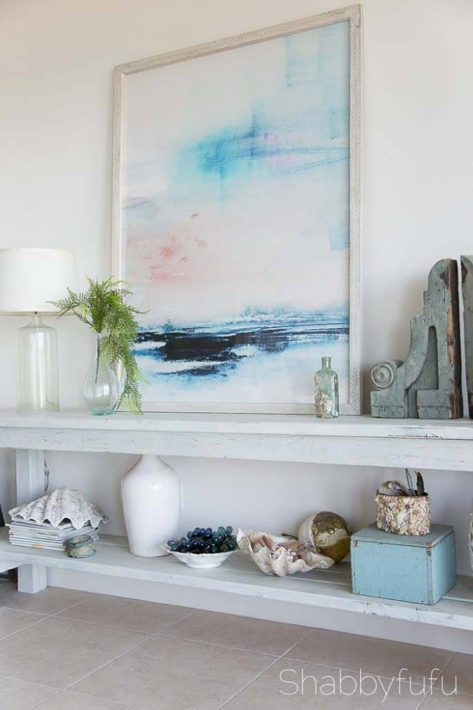 beach coastal table styling