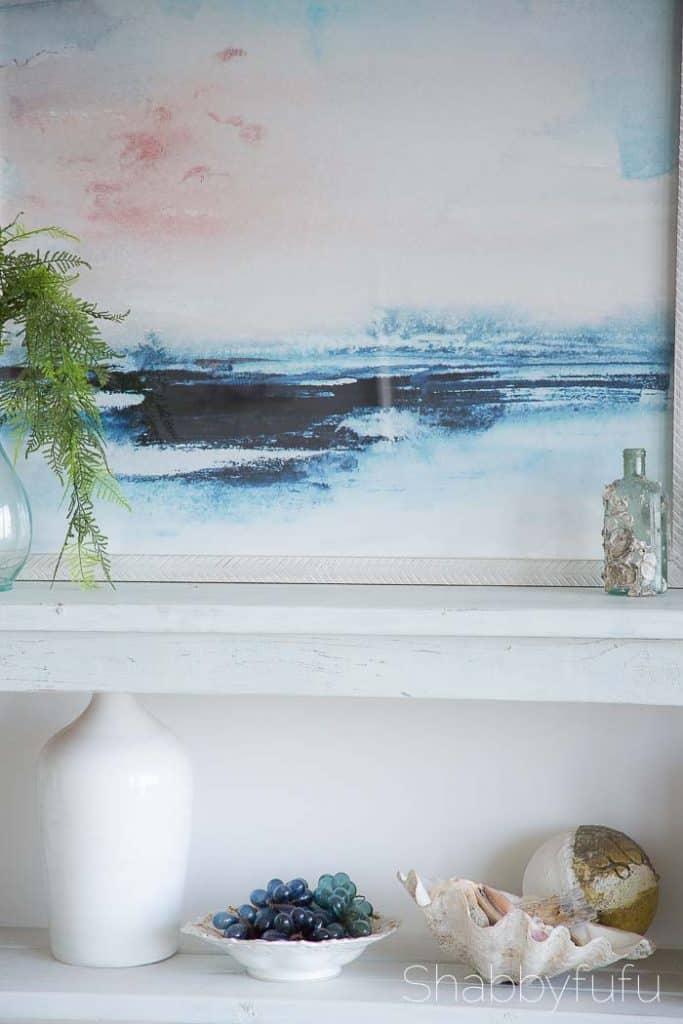 minted coastal beach artwork