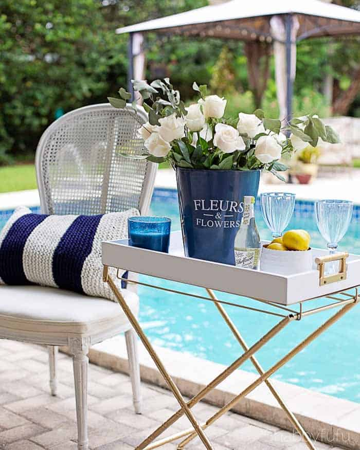 poolside entertaining