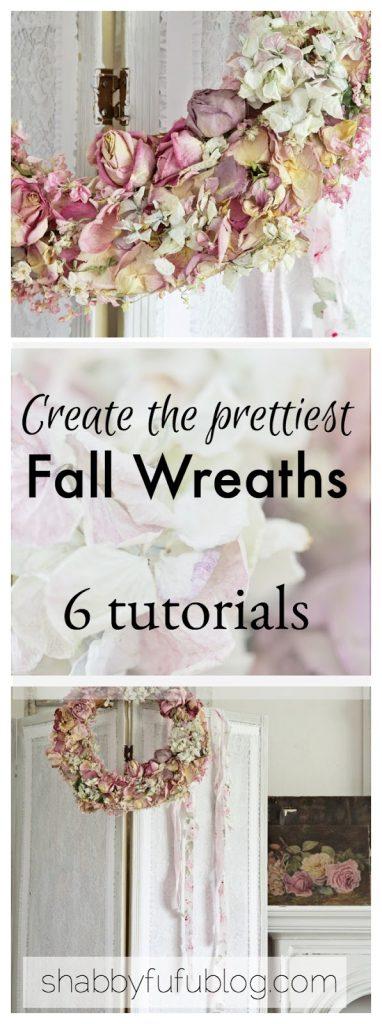 tutorial diy fall wreaths