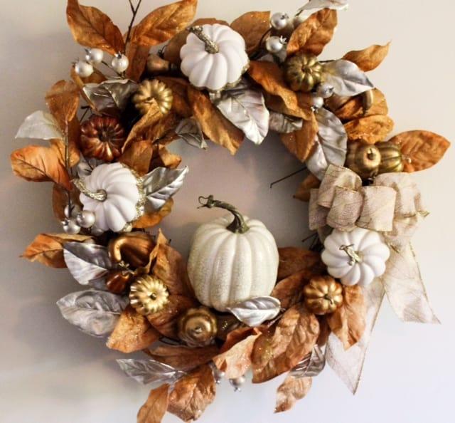 rustic glam wreath