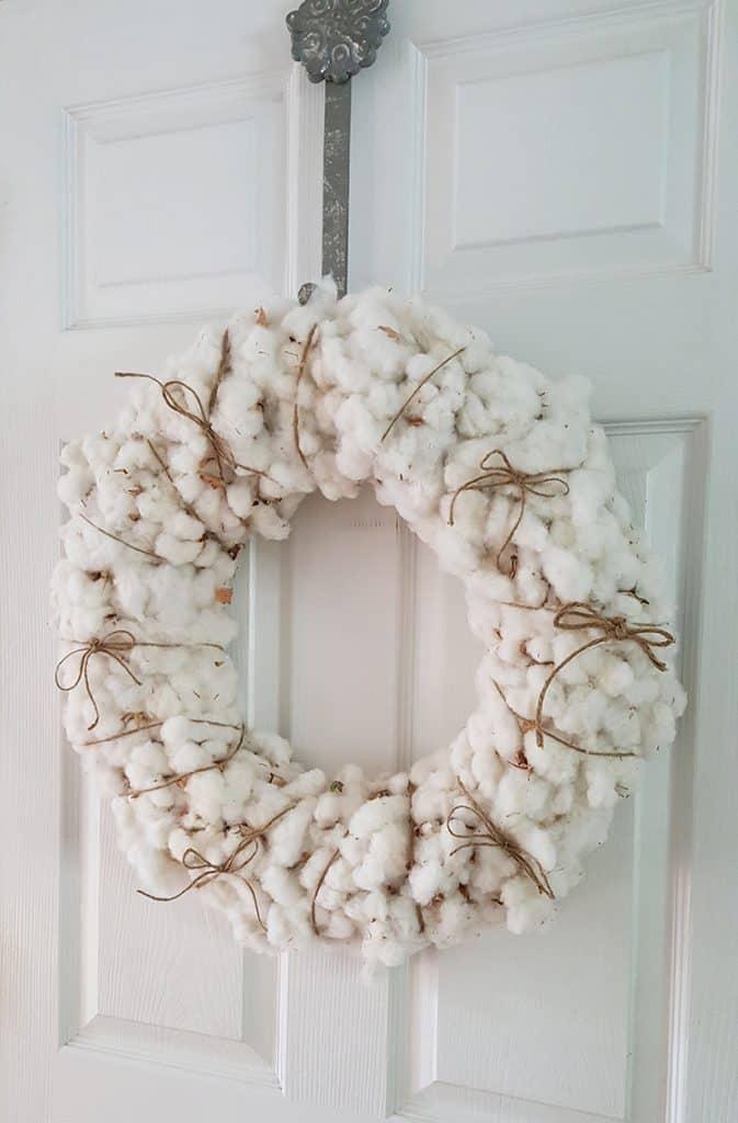 cotton wreath diy
