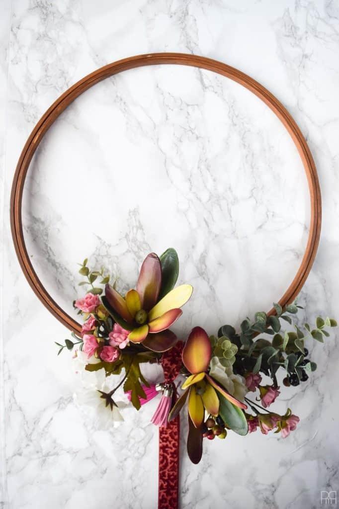 embroidery hoop wreath