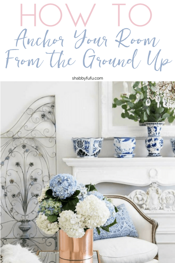 How to style a room from the group up with area rugs as a focal point.