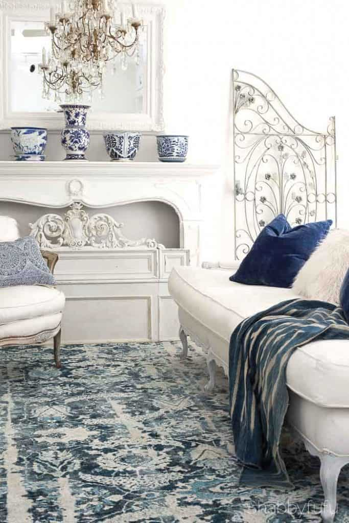 elegant blue living room designs