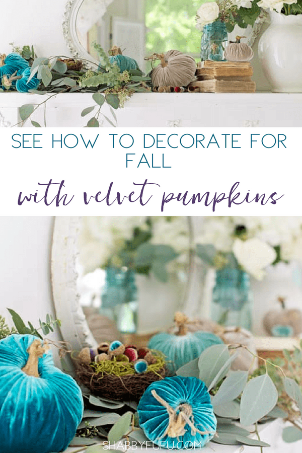coastal fall mantel ideas