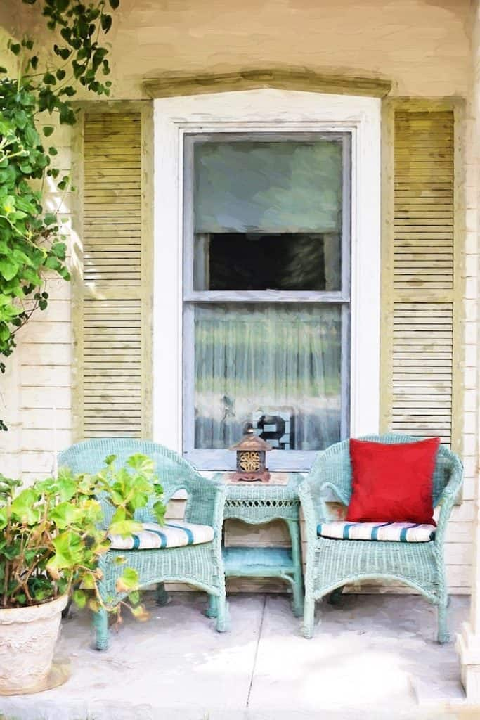 comfortable and cozy front porch
