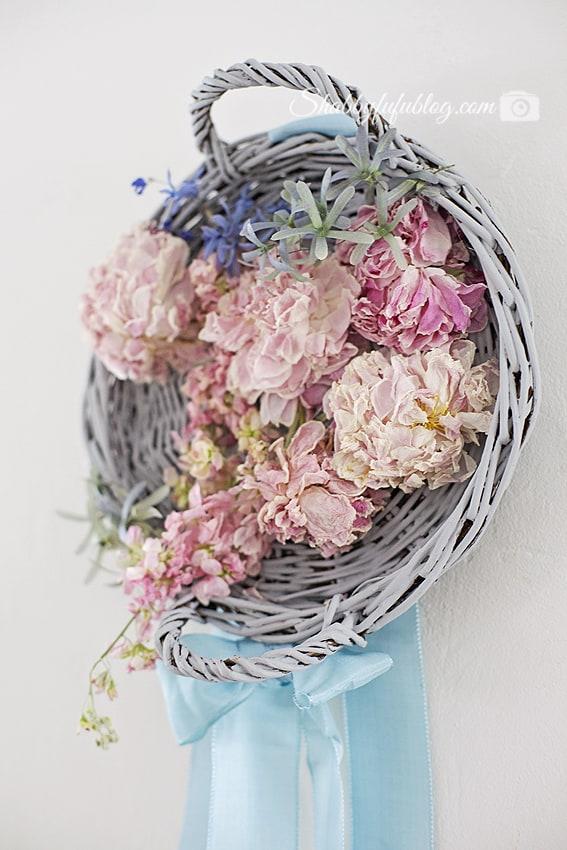dried peonies wreath