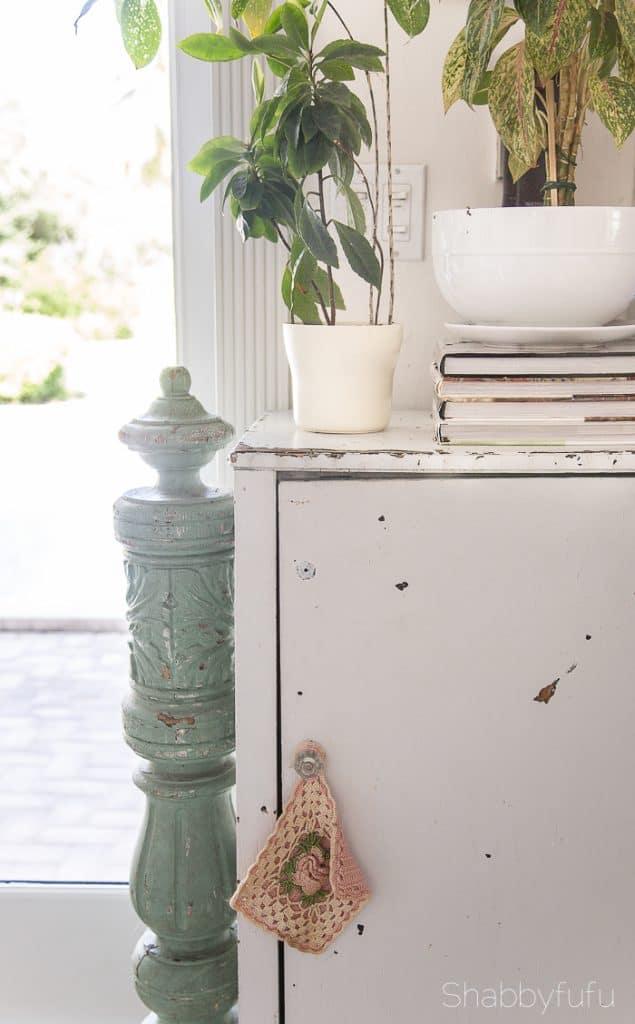 hidden storage vintage cabinet
