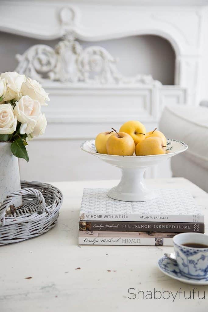 French style coffee table compote apples