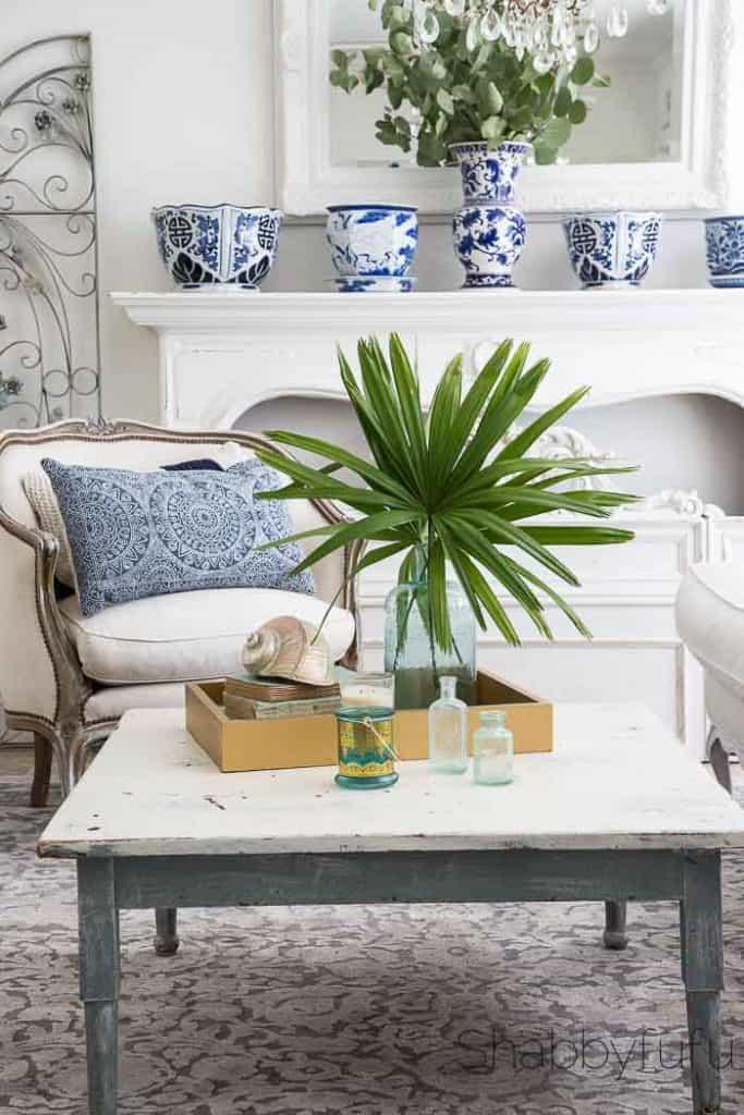 coastal beach living room elegant style