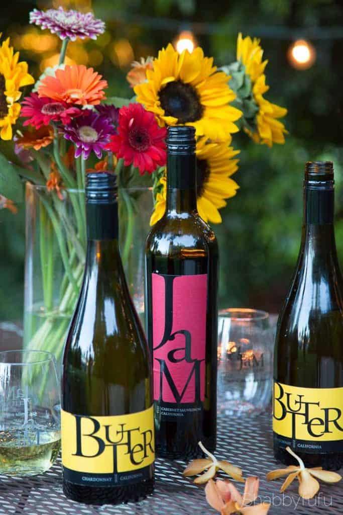 chardonnay and cabernet sauvignon bottles