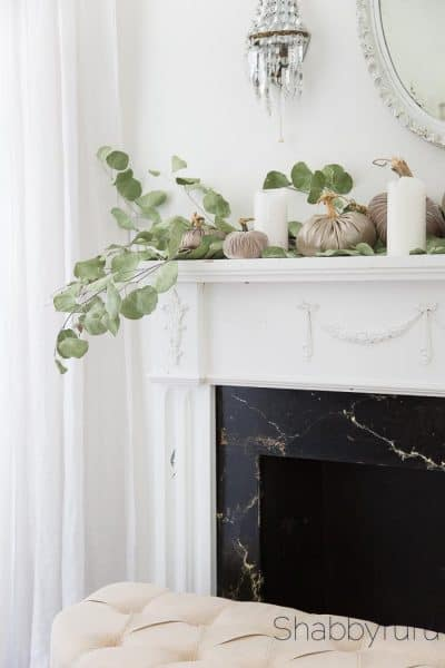 How To Create A Simple Elegant Mantel For Fall