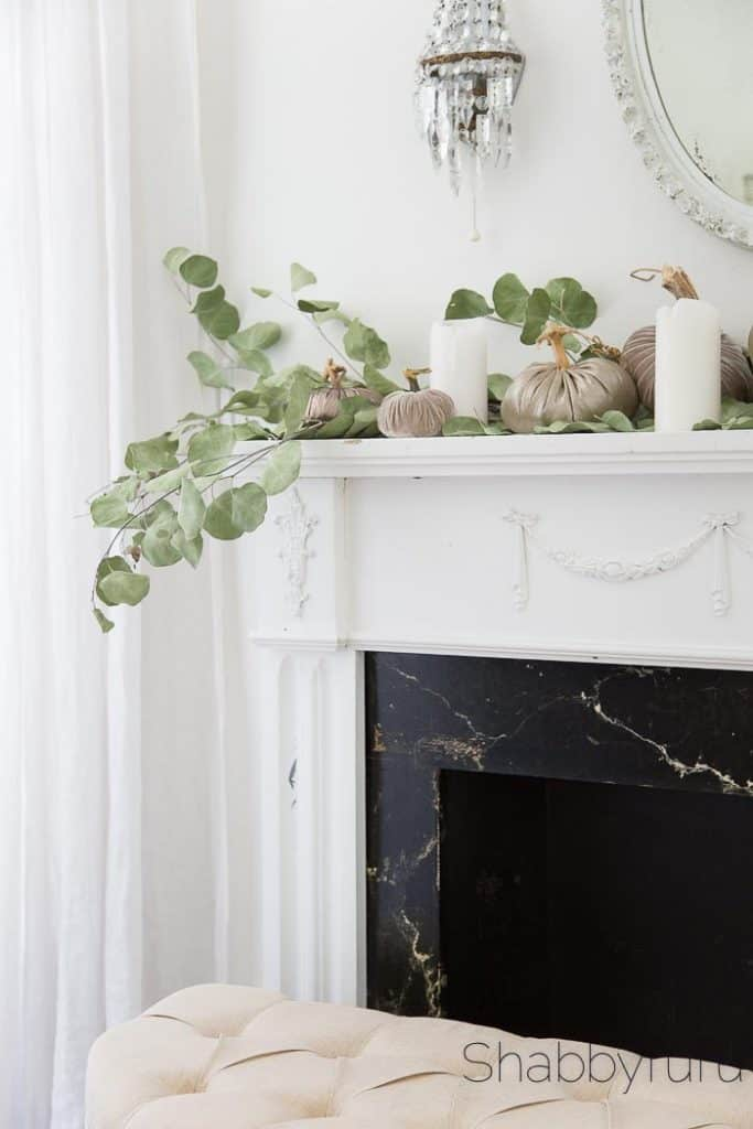 french country style fall mantel decorating